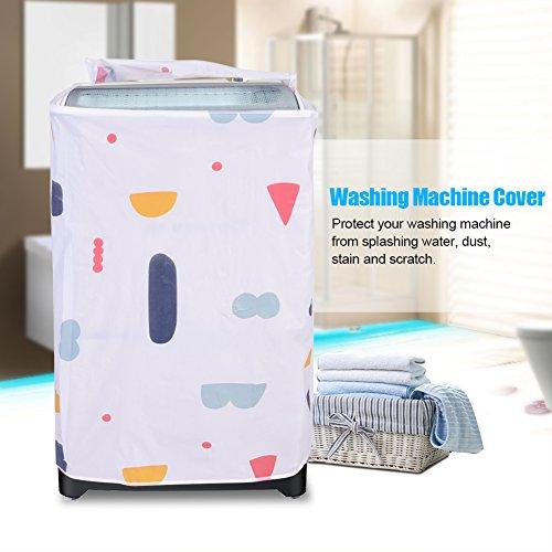 GLOGLOW lavatrice copertura protezione antipolvere per carico superioreanteriore Lavasciuga lavatrice apparecchio antipolvere con cerniera Protector Top Load
