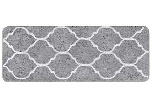 Homcomoda Tappetino da Bagno Microfibra Tappetini per il Bagno Antiscivolo Tappeto da Bagno 45cm x 120cm Grey
