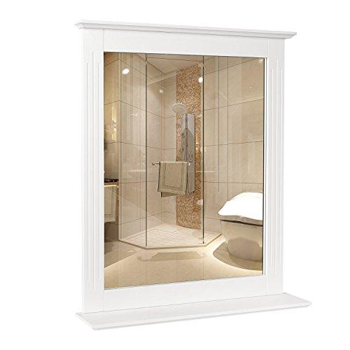 Homfa Specchio da Bagno Specchio Arredobagno con Cornice 50 x 60 cm
