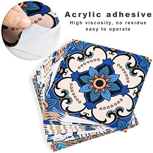 Irich 20 Pezzi 20x20 Adesivi per Piastrelle Impermeabile PVC Autoadesivo Decorazione Adesivi Pavimento per Bagno Cucina Parete Fai da Te