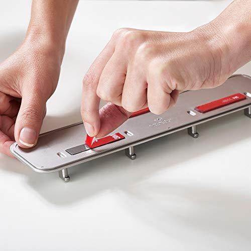 Joseph Joseph 10178 DoorStore 4 Pezzi Elevate Set di Utensili da Cucina in Silicone con rastrelliera per dispensa Opal