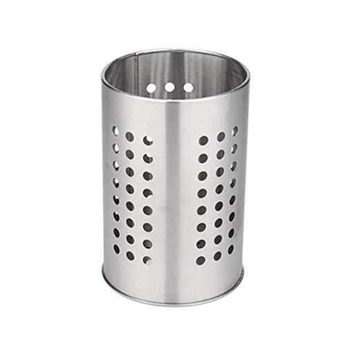 Jourbon Cestello Portaposate Porta Utensili da Cucina Portautensili da Cucina in Acciaio Inossidabile Porta Scopa per Gabbia