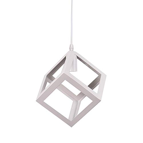 Lampada a sospensione Vintage industriale cubo creativo battuto lampadario in ferro adatto per sala da pranzo e un da cucina E27 lampadina non inclusa