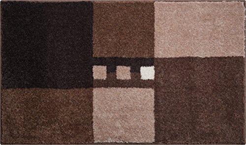 Linea Due MERKUR Tappeto per Il Bagno Poliacrilico Supersoft Marrone 70 x 120 cm