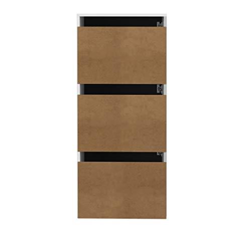 Marchio Amazon Movian Odiel  Scarpiera 50 x 331 x 1187 cm L x P x A colore bianco e quercia
