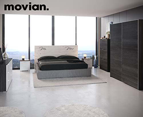 Marchio Amazon Movian scarpiera a 3 sportelli in stile moderno modello Inari 25 x 75 x 128 cm colore grigio