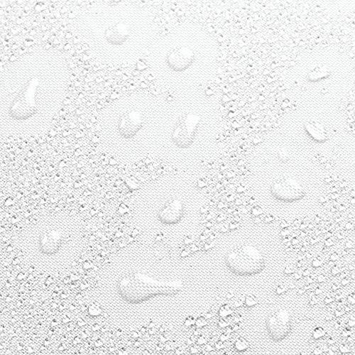 mDesign Tenda Doccia antimuffa  Tenda Impermeabile con 12 asole precucite  Tenda per Doccia e per Vasca Idrorepellente ad Installazione Facile  BluBianco