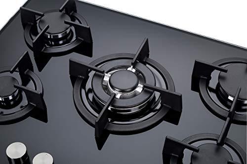 MILLAR GH7051PB 70cm 5 fornelli in vetro piano cottura a gas