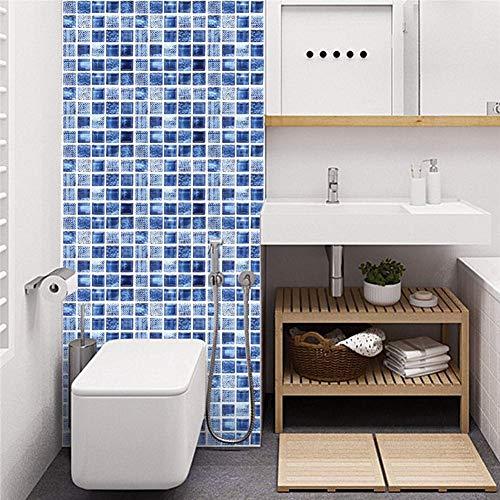 Set di 12 pezzi adesivi piastrelle 3D Vintage blu adesivo parete cucina 20x20cm adesivi impermeabili fai da te piastrelle cucina e bagno adesivi piastrelle parete adesivo anticollisione