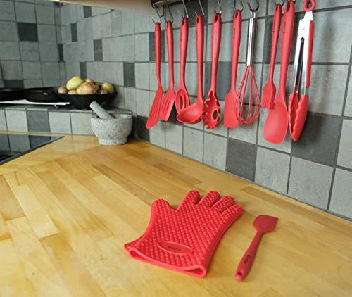 Set di utensili Set da 12 pezzi in silicone completo per cottura e utensili da cucina