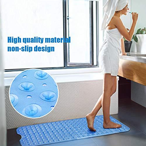 Tappetino da Bagno Tappetini Antiscivolo Extra Lunghi per Vasca da Bagno Resistente alla Muffa con Ventosa per Doccia Tappetino da Bagno per Bambini Macchina Lavabile 100 x 40 cm Blu