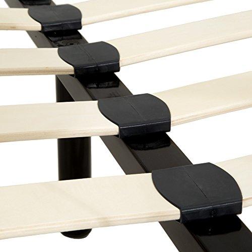 TecTake LETTO METALLO CON RETE STRUTTURA MATRIMONIALE MODERNO  modelli differenti  180x200cm Nero  no 401724