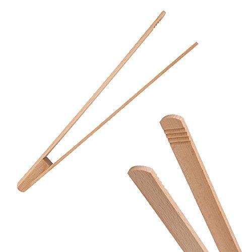 Uulki 10pezzi ecofriendly utensili da cucina set di strumenti da legno di faggio europeocucchiai food Turner spatola pinze per barbecue posate per insalata legno di faggio