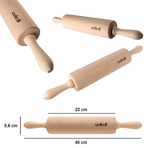 Uulki 20 pezzi ecologica Set di utensili da cucina in legno di faggio con Ardennes Schiaccianoci