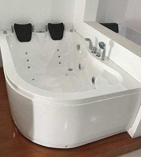 VASCA BAGNO IDROMASSAGGIO ANGOLARE 2 PERSONE NUOVA 170 X 115 CM INTERNO 2 PERSONE NUOVA bat tub whirlpool pool bade