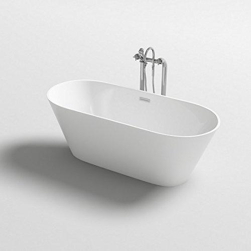 Vasca da bagno 170x80x58h 160x80x58h 150x75x58h freestanding bianca design moderno centro stanza I