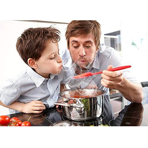 Vicloon Spatole in Silicone Set 6 PCS Spatola da Cucina Utensili Resistente al Calore Antiaderenti Utensili da Cucina in Silicone Compreso Cucchiaio in Silicone Pennelli da Cucina ECCRosso