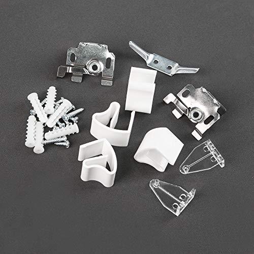 Victoria M Veneziana in Alluminio 55 x 130 cm Argento Montabile Senza Fori Incluse Clip di Fissaggio Klemmfix
