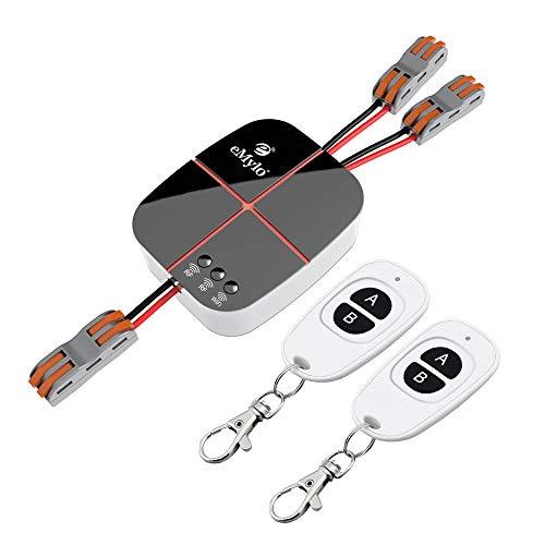 eMylo Smart Wifi Interruttore RF Telecomando senza fili Interruttori della luce Modulo rel 2 canali AC 220V Timer domotica 433 Mhz Supporto AlexaEcoGoogle HomeIFTTT tramite Iphone Android