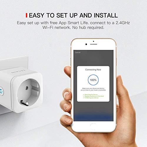 Presa Intelligente WiFi Smart Plug 16A 3300W TECKIN Presa Smart Compatibile con Alexa Echo Google Home IFTTT Controllo Remoto Funzione di Temporizzazione Presa Wireless per iOS Android App 3 Pezzi