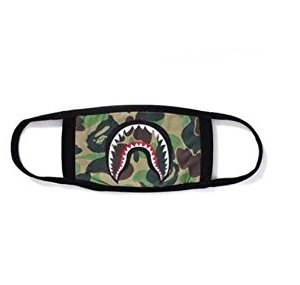 Srovfidy Fashion a Bathing ape Bape Shark nero maschera camouflage mouthmuffle Bape cover A