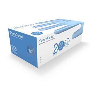 TouchGuard guanti monouso in nitrile blu senza lattice e senza talco confezione da 200 taglia L