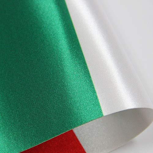Bandiera da Tavolo Italia 9 x 6  Set di Piccola Bandiere Italiano Comprende Pennone e Base