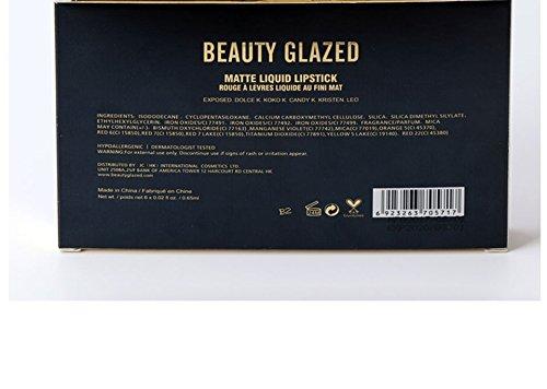 Bellezza sexy 6pcsmatte lip Gloss sexy Liquid rossetto idratante a lunga durata impermeabile professionale e balsamo per le labbra