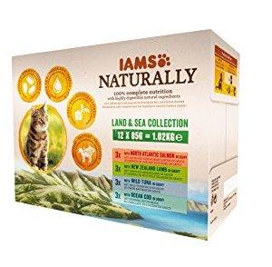 Iams Naturally Multipack Alimento Completo Umido per Gatti Adulti  12x85gr  1020 gr