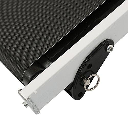 MUPAI Tapis roulant Manuale Display LED Funzionamento Situp e Twist Tapis roulant 3in1 145  54  110 cm Bianco