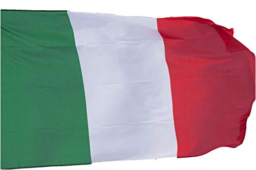 RF srls 10 Bandiera Italia Tricolore Nazionale Tessuto Misura Standard 90 X 150 cm