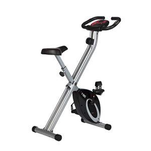 Ultrasport FBike Cyclette da Allenamento Home Trainer Bici da Fitness Pieghevole con Computer di Allenamento e Sensori delle Pulsazioni Peso massimo 110 kg Nero