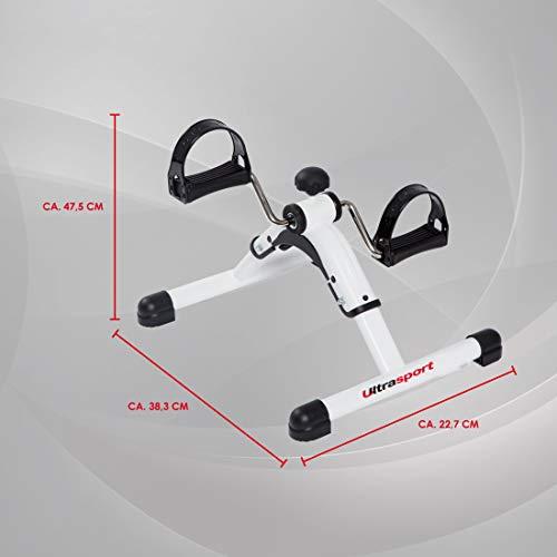 Ultrasport Minibici pieghevole MPE 25 Mini Bike per allenare braccia e gambe home trainer trainer a pedali per sviluppo muscolare allenamento resistenza resistenza regolabile per casa o ufficio