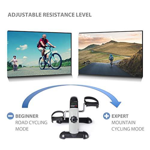 Ultrasport Mini Bike Home trainer Attrezzo Trainer per gambe e braccia Trainer a pedali per anziani e ragazzi con computer di allenamento resistenza regolabile attrezzo allenamento casa e ufficio
