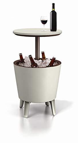 Keter 17186745 Cool Bar Tavolino da caff in plastica allungabile Colore MarroneBeige