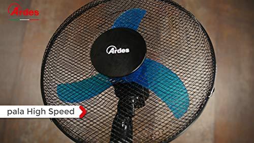 Ardes Penny AR5AM40P Ventilatore Piantana Altezza Regolabile 3 Pale 40 cm con Oscillazione Ampia Base 60 cm e 3 velocit