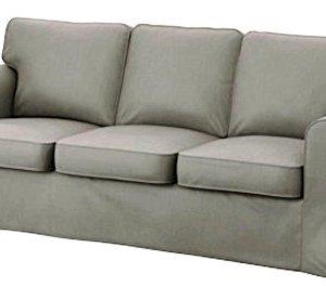 Solo copertine Il divano non  incluso Ektorp 3 sedia di ricambio della copertura del cotone divano  su misura Fodera per IKEA Ektorp Sofa Cover Grigio chiaro cotone resistente