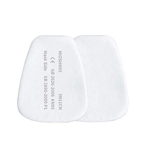 10 Confezioni Filtro di ricambio per maschera di protezione delle vie respiratorie filtro antiparticolato per maschera antipolvere e per gasfiltro di ricambio per maschera integrale e semimaschera