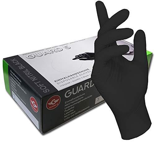 200 pezzi 1 scatola nero guanti usa e getta  guanti senza polvere di nitrile guanti da cucina Tattoo ambulanza Small