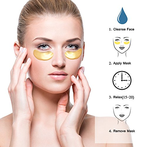 25 Paia Maschera Per Gli Occhi Collagene Gold 24k Antinvecchiamento Antirughe Idratante Sotto Le Rughe Degli Occhi Rimuovere Le Borse Per Gli Occhi Sotto Gli Occhi Cerchi Scuri Occhi Gonfi