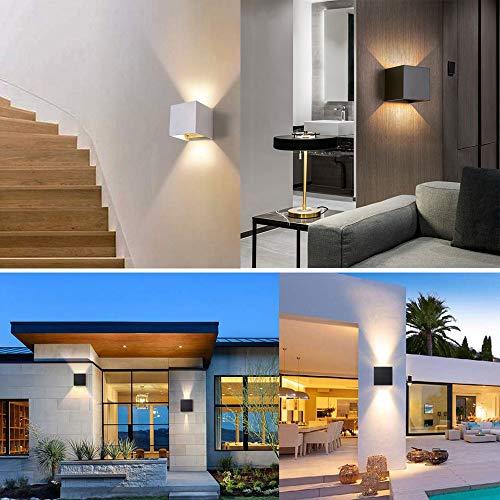 2 lampade da parete a LED da 12 W in alluminio impermeabili da parete luce notturna per soggiorno camera da letto corridoio illuminazione decorativa Contemporaneo Nero