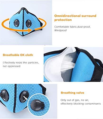 4sold Maschera respiratoria paradenti Protezione Filtro barilotto Set Filtro Protezione Antipolvere Lavabile Protezione barile Orange