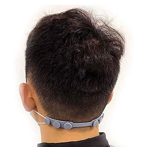 6 Pezzi Cinturino di prolunga per maschera silicone Regolabili Ganci per Le Orecchie del Viso Fibbia Adulti Bambini per Le Orecchie Mal di Testa Antiscivolo Portatili per tutti i tipi di maschera