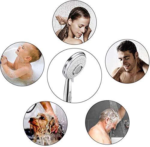 ACGAM Soffione Doccia Alta Pressione Anticalcare  2 M Flessibile Doccia5 Funzioni Getti Doccia Soffione Multifunzionale ad Alta Pressione