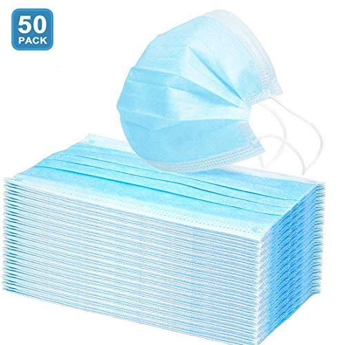 AD ADTRIP 50PCS Mascarilla desechable Mascarilla bucal transpirable a prueba de polvo Maschera antipolvere monouso con Earloop