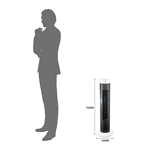 Aigostar Ventilatore a torre a 3 velocit con timer silenzioso impostato fino a 45 W 85  oscillazione