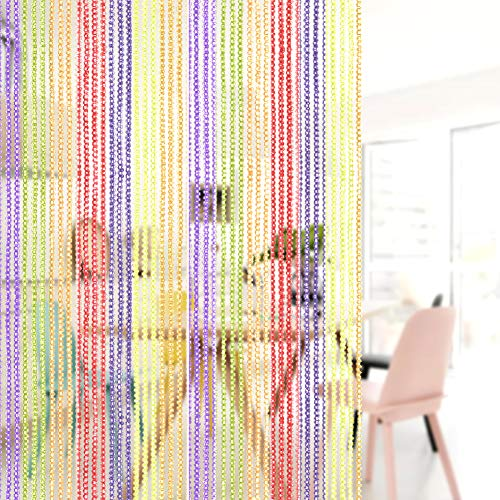 AIZESI Tenda a Fili con Funzione di zanzariera da Usare Come divisorio per Ingresso o Tenda a Pannello per Finestra Tessuto AMulti 39x785