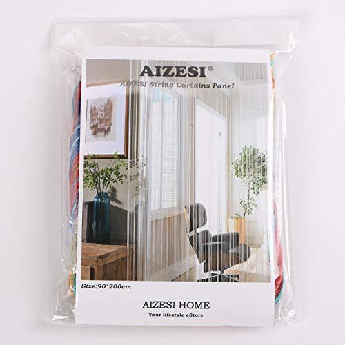 AIZESI Tenda a Stringhe Stile retr divisorio per Ingresso o Tenda da Finestra 90 x 200 cm Tessuto ARainbow 90 x 200 cm