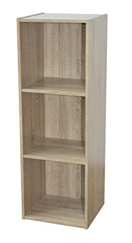 Alsapan  Scaffale cubico 3 x 1 in melamina 91 x 31 x 295 cm Finiture in Rovere