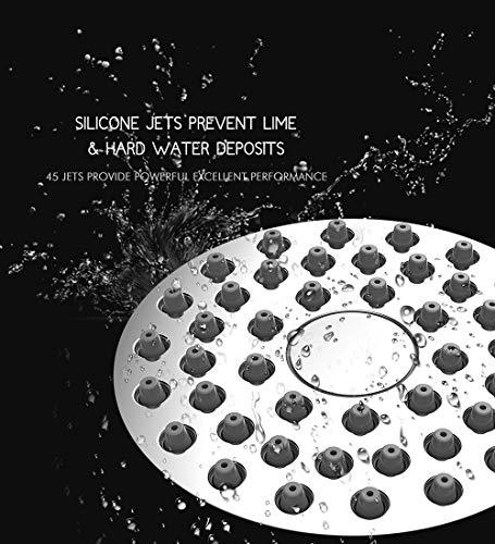 Alta pressione soffione  76 cm anticlog antiperdite fisso cromato doccia  doccia regolabile in metallo girevole giunto a sfera con filtro